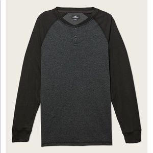 🔘 Men's O'Neill void Henley long sleeve T-shirt